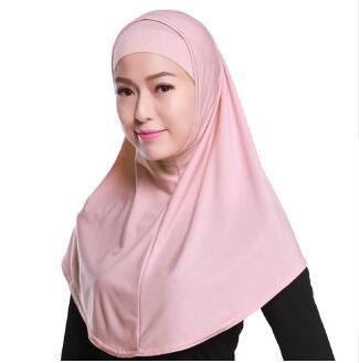 Livraison gratuite Foulard musulman femmes hijab mis casquettes intérieures sous écharpe châle pour dames islamique dubaï arabe deux pièces hijab chapeau en gros