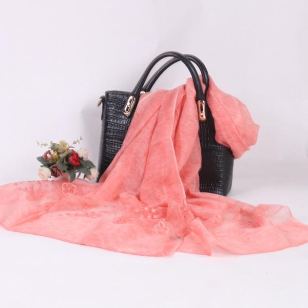 Wholesale 200cm 13 Colors Artificial Silk Designer Scarf Women Hijab Shawls Pashmina Head Wrap Scarf Table Blanket Beach Towel