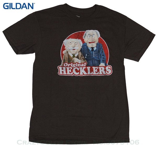 Camisa de impressão T Moda manga curta The Muppets Mens camiseta Hecklers Old Men Circle Image