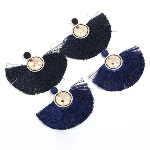 Women's Fashion Bohemian Style Extra Large Earring Tassel Fan Ear Accessories