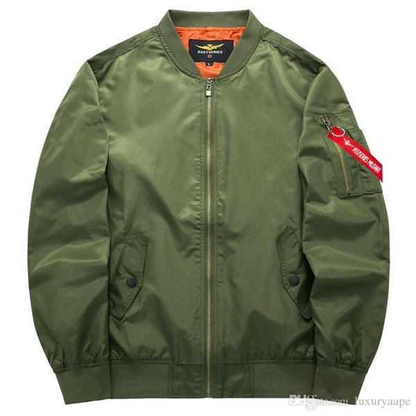 High Quality Ma1 Thick and Thin Army Green Military Ma-1 Flight Jacket Pilot Air Force Men Bomber Jacket