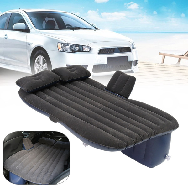 Outdoor camping Car Back Seat Cover Air Mattress Travel Mat Bed Inflatable Mattress Air Inflatable Car Bed with Pump