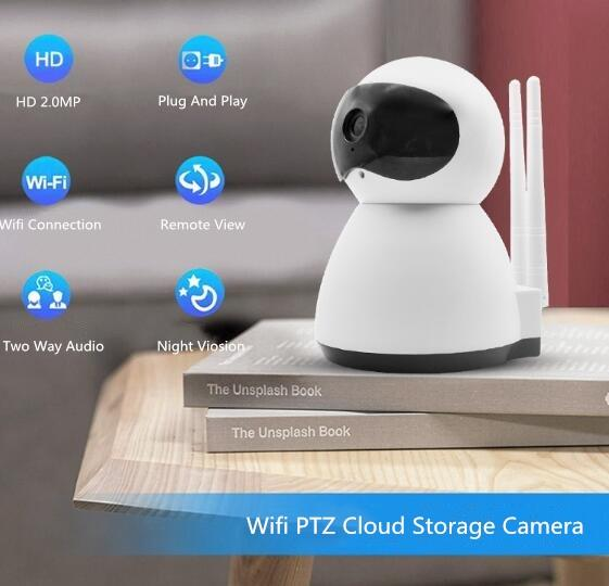 Factory Price P2P Two Way Audio Night Vision Cloud Storage Home Smart  Camera 720P/1080P Wireless Wifi IP Camera With Alarm Function Digital  Security