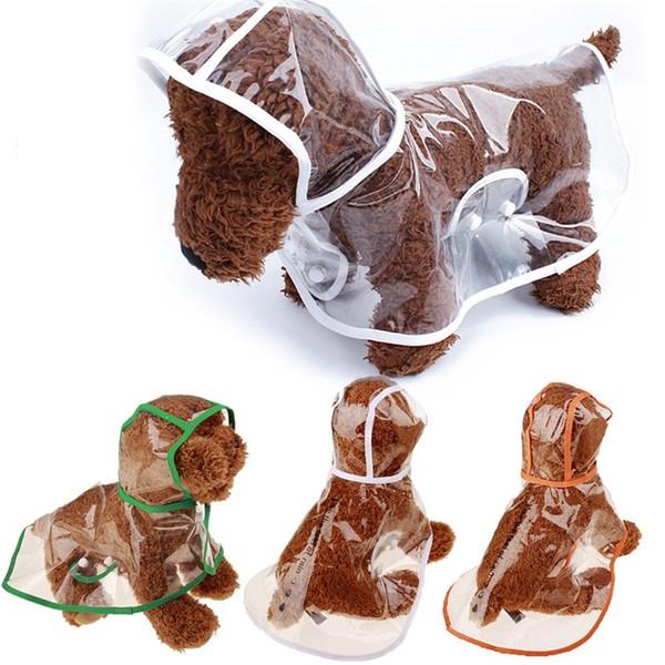 Transparent Puppy Rainwear Universal Waterproof Dog Clothes For Summer Spring Hooded Pet Rain Coat Factory Direct Sale 9cs ZB