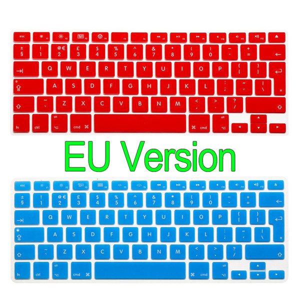 EU Version Keyboard Cover TPU Silicon Clavier Sticker Waterproof Skin for MacBook Air Pro iMac 13 15 17 Inch
