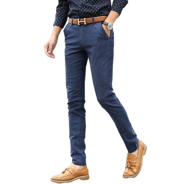 2018 new Casual pants Men's Slim feet pants Korean version of the waist Thin section Men's long Size 29-34 36