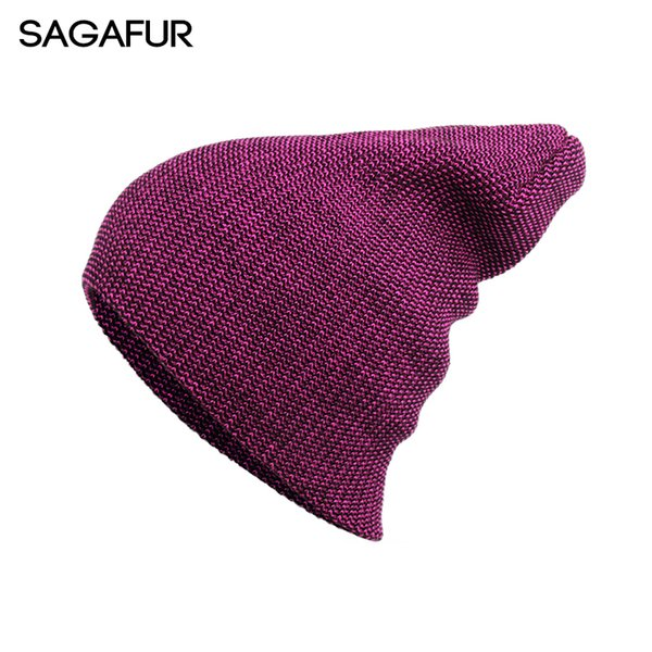 Mixed Color Hat Female Winter Knitted Hat For Girls Outdoor Women's Cap Cotton Blends Beanies For Ladies Hip Hop Skullies Bonnet