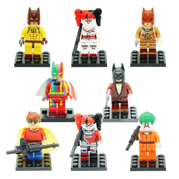 Mini Super Héros Vengeur Batman Robin Joker Harley Quinn Jouet Figure Building Block Jouet pour Enfants