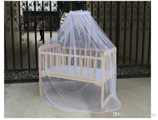 Wholesale- Fashion Mosunx Business Hot Selling Baby Bed Mosquito Mesh Dome Curtain Net for Toddler Crib Cot Canopy
