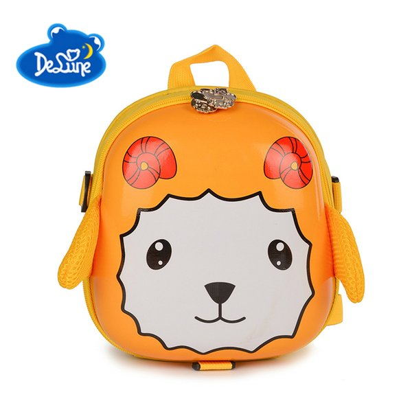 Delune Kids School Bags Fashion Cartoon 3D Sheep Backpacks Children Lovely Hard Shell School Bags for Kindergarten Boys Girls