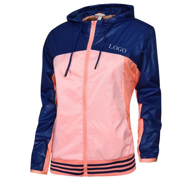 malewardrobe / Frauen windjacke sport marke jacken herbst frühling farben design mit kapuze reißverschluss athletic jacke