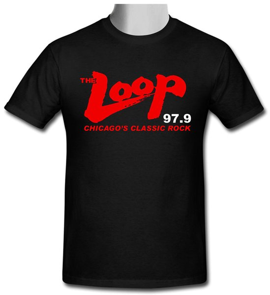 THE LOOP 97,9 Radio Station Factory Outlet Factory Outlet T-shirt size S to 2XL Tee Shirt For Men Hip Hop White Short Sleeve Custom XXXL Tea