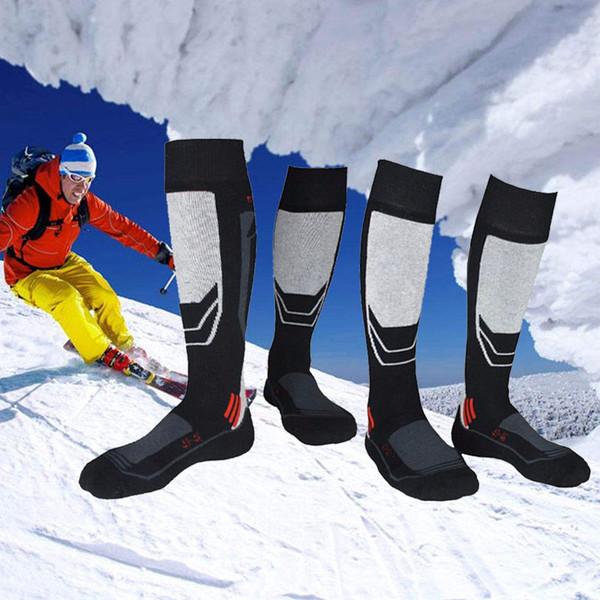 Uomini 2 Coppia Calzini da Sci Inverno Termico Traspirante Sportivo Calze