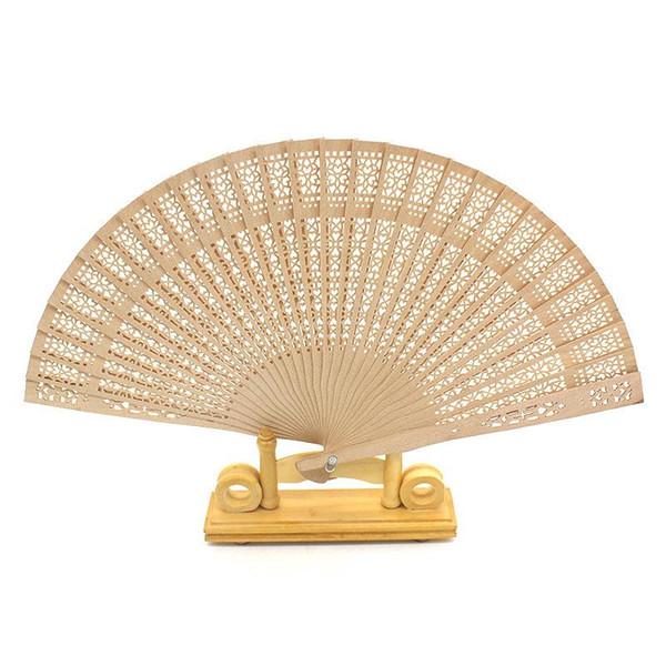 Nachahmung Sandelholz Faltfächer Retro Eigenschaften Holz Seide Hand Holz Fans Aushöhlen Design Sommer Kühlung Gunsten Geschenke 1 8xf ii
