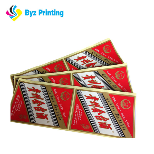 Wholesale Custom Gold Foil Non-toxic Sticker Vinyl Adhesive Sticker Printing Waterproof Die Cut Sticker Printing Sheet Pack