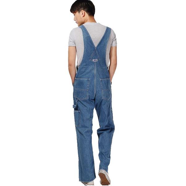 Men 'S Plus Size Overalls Large Size Huge Denim Bib Pants Fashion Pocket Jumpsuits Male Free Shipping