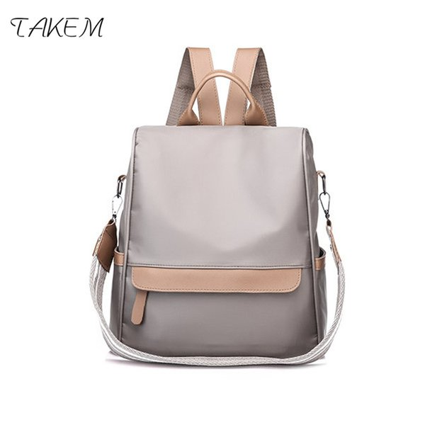 TAKEM NEW Stylish women bag New Soft surface women women's over-the-shoulder bags High quality Oxford High capacity Solid color