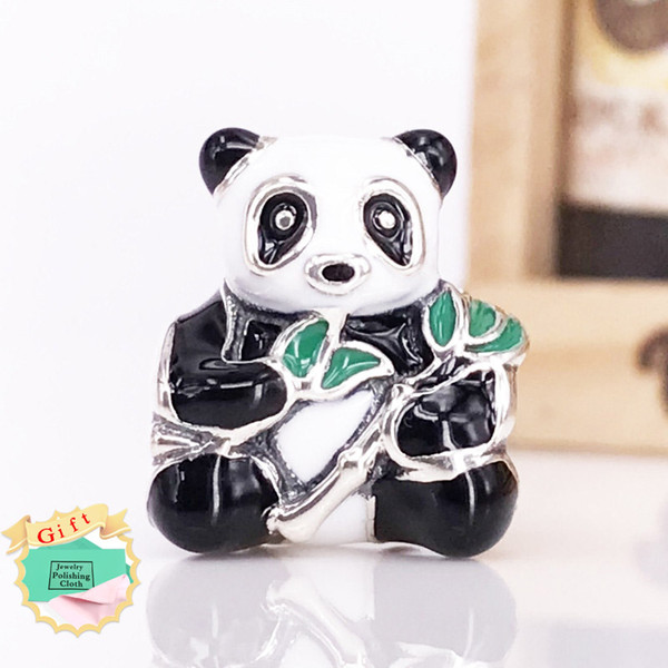 b69a9db32 2017 Autumn Arrival Charms Authentic 925 Sterling Silver Panda Bear Charm  For DIY Pandora Style Jewelry