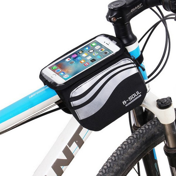 Touch Screen Bicycle Bags Cycling MTB Mountain Bike Frame Front Tube Storage Bag