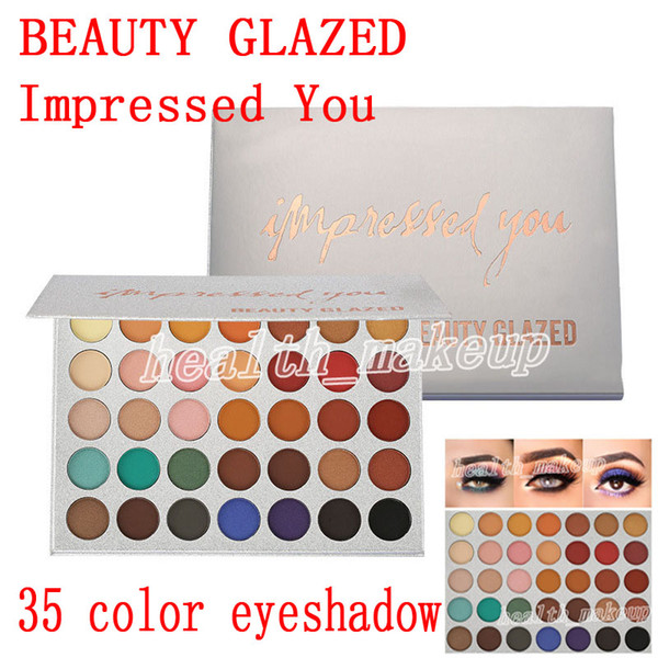 new makeup Beauty Glazed Eyeshadow Palette 35 Color Impressed You Matte shimmer Eyeshadow Palette beauty glazed Brand Cosmetics DHL