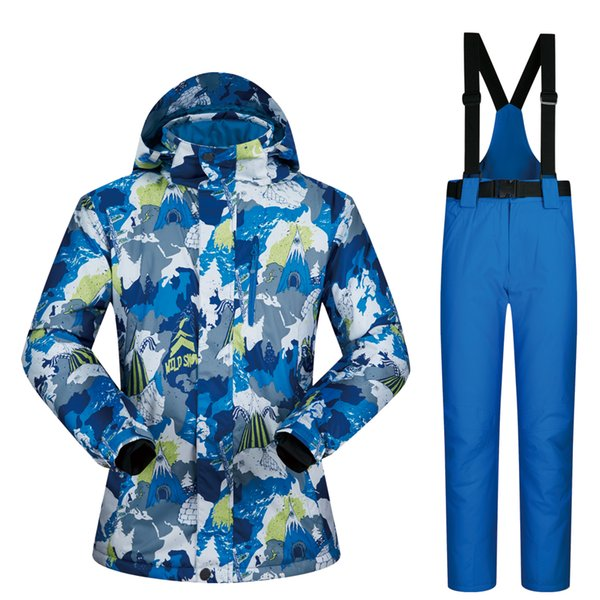 2018 New Ski Suit Male Windproof Waterproof Thicken Clothes For Men Snowboard Jacket And Pants Brand Coat Trousers Winter Wear