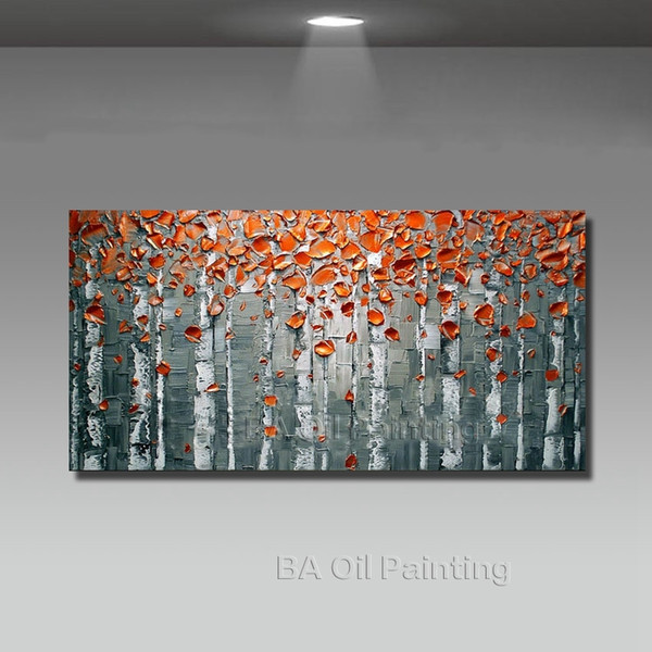 Big Size Modern Hand Painted Flower Canvas Oil Painting Picture Cuadros Wall Art Home Decor For Living Room No Frame Y18102209