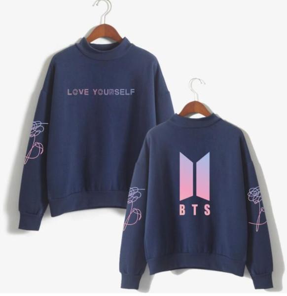 BTS Love Yourself k pop Femmes Sweats à capuche Sweats à capuche outwear Hip-Hop Bangtan boys jimin Vêtements Livraison gratuite