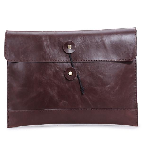 2016 fashion men handbag genuine leather men briefcase casual Hasp envelope bag business messenger bags travel bags6920