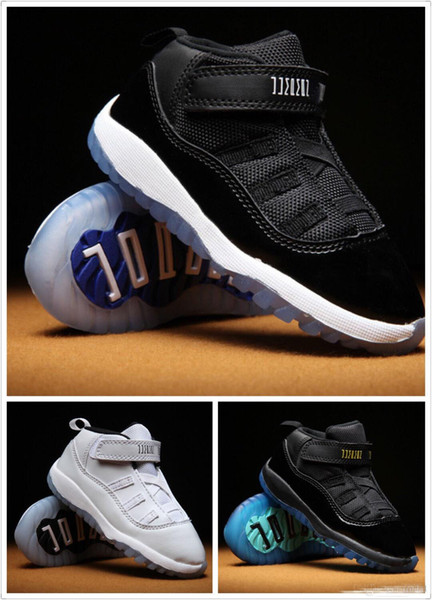 Kids 11 XI Space Jam Shoes Little Baby Boys Girls Toddlers 11s Gamma Concord Bred Pre-Walkers Sneaker 6C-10C