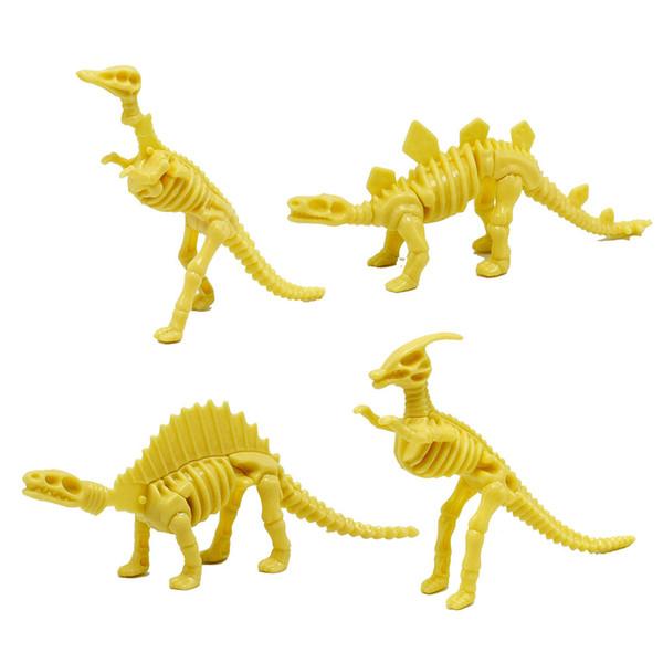 Wholesale 100Pcs/lot Different Kinds Assembled Allosaurus Diplodocus Dinosaur Skeletons Model DIY Toys for Children Gift