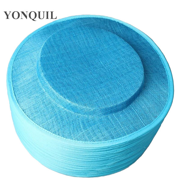 Turquoise 31CM sinamay big size hats fascinator base for women DIY fascinator hair accessories cocktail millinery hats 6pieces/lot MYQH26