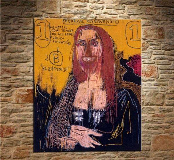 Jean Michel Basquiat Handpainted & HD Print Graffiti Pop Wall Art Home Decor Oil Painting On Canvas Multi Sizes Frame Options g55