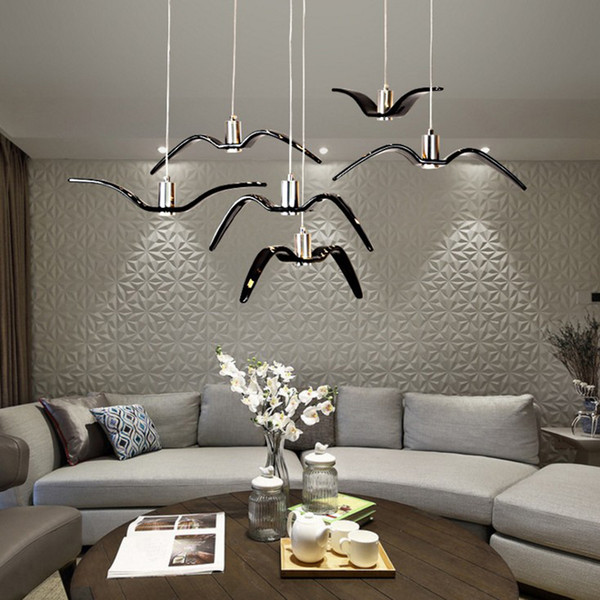 Modern Living Room Led Pendant Lighting Restaurant Bar Cafe Decorating  Hanging Lamp Restaurant Lights Couture Creative Bird Pendant Lamps Pendant  Lamp ...