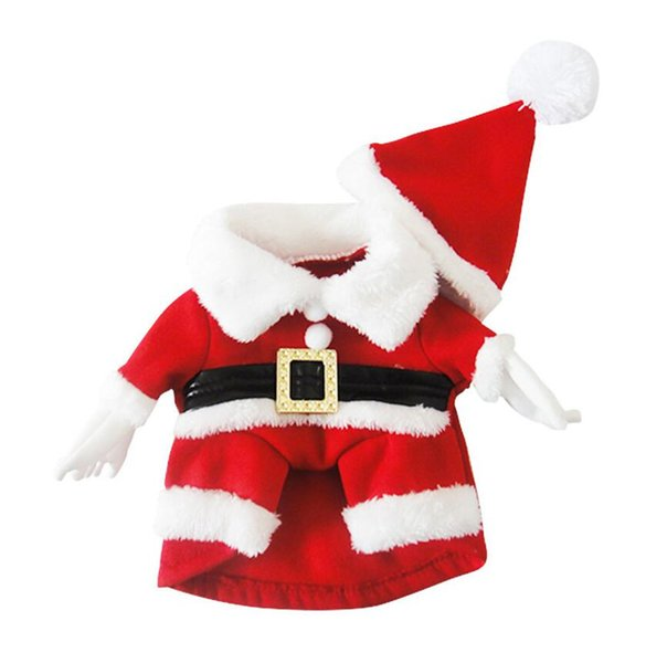 5 Size dog costume Christmas dog transformed dress santa suit classic Euramerican pet dog Christmas clothes pets apparel wholesale