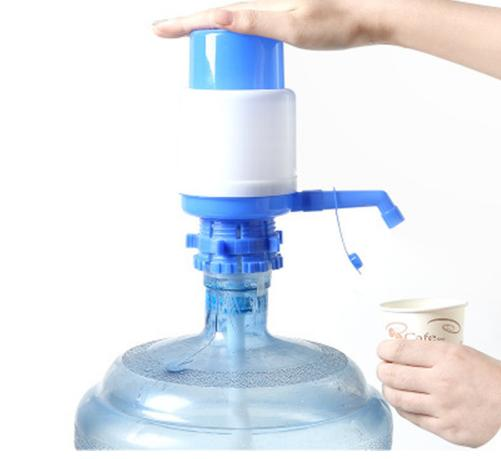 5 litros de plástico garrafa de água potável mão imprensa dispensador de bomba manual novo dispositivo de absorção de garrafa de água criativo