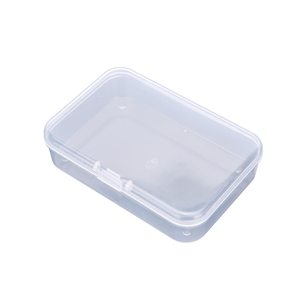 Clear Plastic Small square Boxes Packaging Storage Box With Lid for jewelry box Accessories Finishing