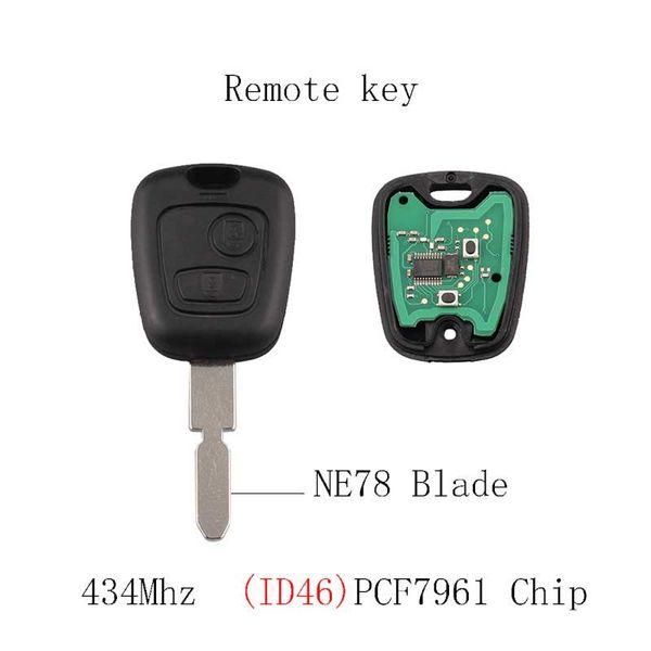 433MHZ Car Remote key Transponder Chip PCF7961 For 406 407 408 607 NE78 Blade Original