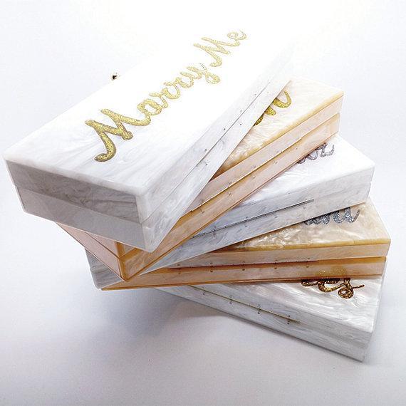 Personalized Own Name Custom Acrylic Clutch Bridal clutch Evening Handbag Shoulder Bag Mother Pearl Acrylic Purse