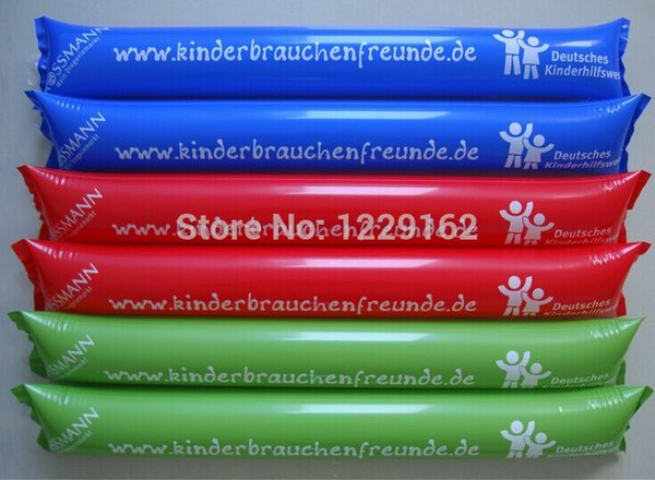 customized inflatable cheering stick printed air bang stick promotional thunder for parties and sports games