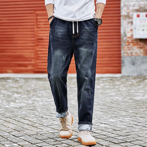 2018 Neue Berühmte Marke Gerade Blaue Jeans Männer Stilvolle Baumwolle Stretch Denim Top Qualität Business Herren Jeans Plus Größe M-XXXXXXXXL