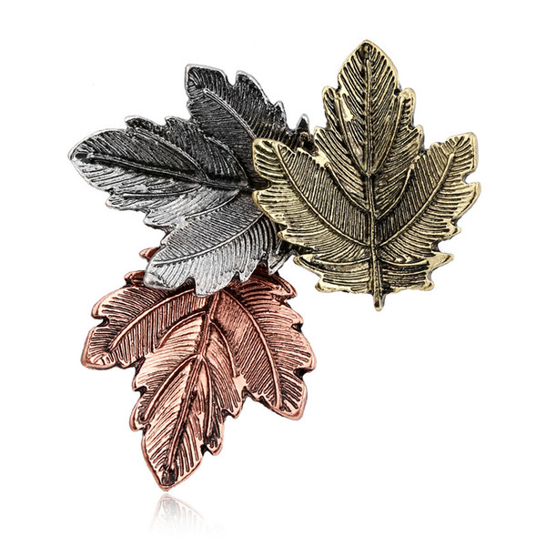 Broche Mujer Vintage Pin Maple Leaf Brooch Brooches Pins Exquisite Collar For Women Dance Party Accessories