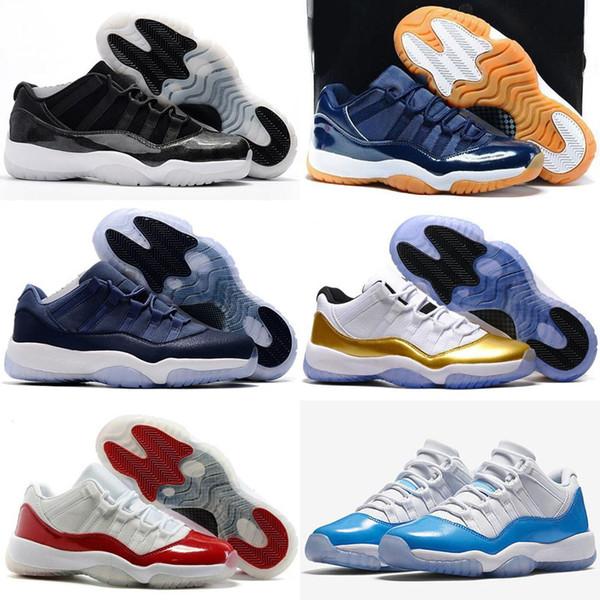 Alta Qualidade 11 Baixa Fechamento Retro Cerimônia Chiclete Da Marinha Sapatos de Basquete Homens Mulheres 11 s Barões Do Colégio Vermelho Raça Tenda Azul Sneakers