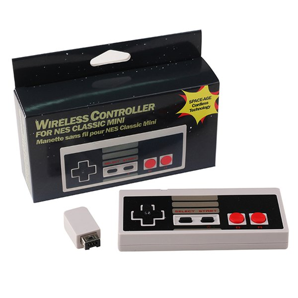 2.4GHz Wireless Controller Classic Edition Gamepad Joystick 2 Buttons For NES Classic MINI with retail box free DHL shipping