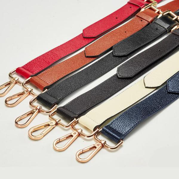 IMIDO 130cm Genuine Leather bag Strap for Handbags Women replacement straps shoulder belt accessories parts Brown STP027