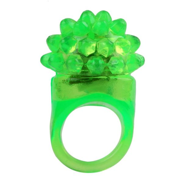 2017 Hallowmas 18 Pack Led Rubber Rings For Party Favors Jelly Bubble Light Up Finger Toy Aug 14