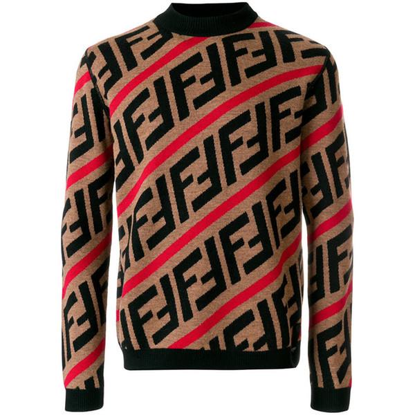 New Sweater Pullover Men Hoodie Long Sleeve Sweatshirt Letter Embroidery Knitwear Winter Mens Clothing Keep Warm