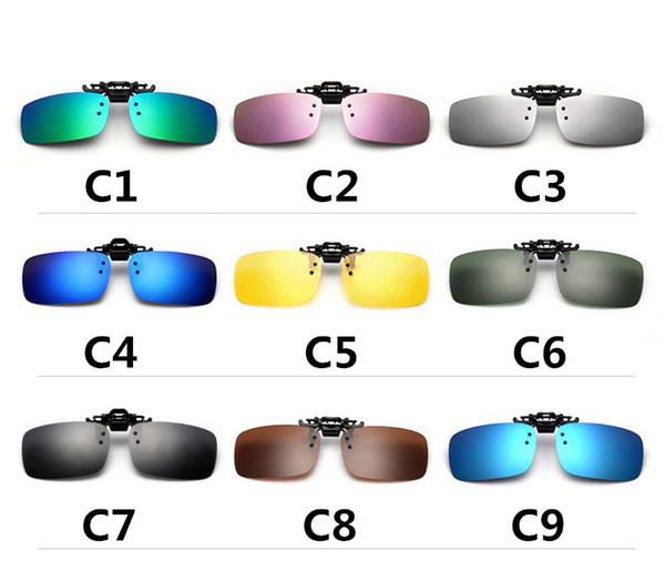 Polarized Flip Up Clip On Sunglasses Myopia Glasses Lens UV400 Driving Sport