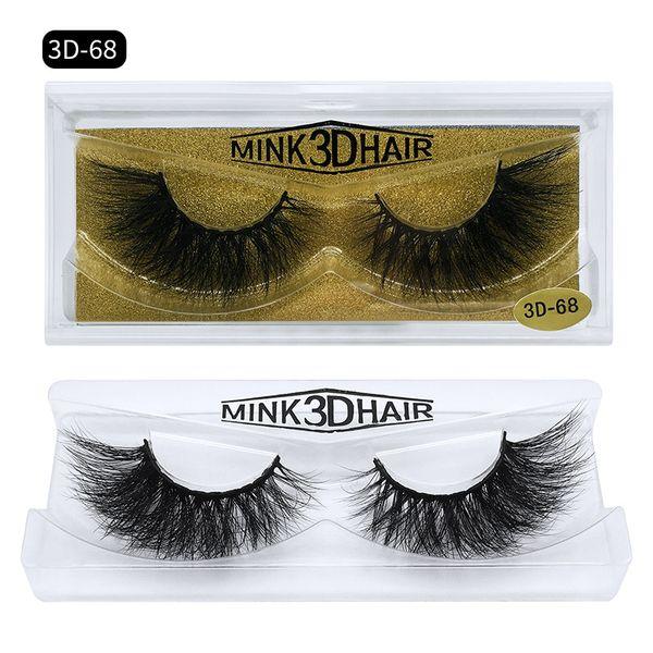 Messy Mink Hair False Eyelashes Natural Look Thick High-grade Mink Fur Hair Handmade Fake Lashes Black DHL Free YL0073D