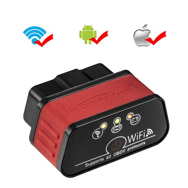 EML327 OBD2 Wifi V 1.5 Auto Diagnostic Scanner ODB 2 Autoscanner Konnwei KW903 ELM 327 Wi-fi OBD2 Adapter For iPhone Android