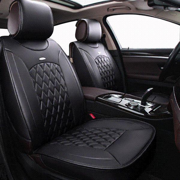 Astonishing Kokololee Pu Leather Universal Car Seat Covers For Toyota Mazada Nissan Qashqai X Tral Hyundai Bmw Audi Ford Car Seats Protector Car Leather Seat Machost Co Dining Chair Design Ideas Machostcouk